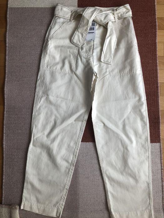 Pantaloni crem Mango suit noi Bucuresti - imagine 1