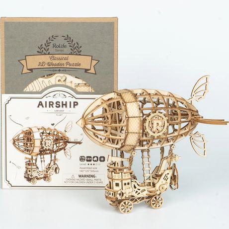 3D деревянный конструктор для детей Robotime Ugears Rork Дирижабль