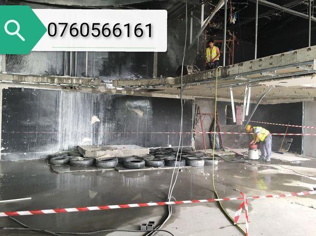 Taiere și spargere beton cu scule profesionale si personal calificat.
