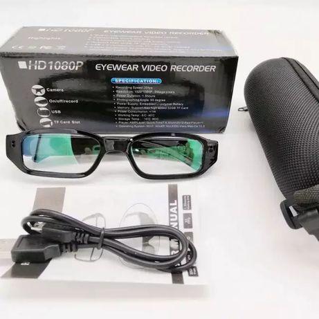 Скрита камера в очила, шпионска мини камера с висока резолюция, видео
