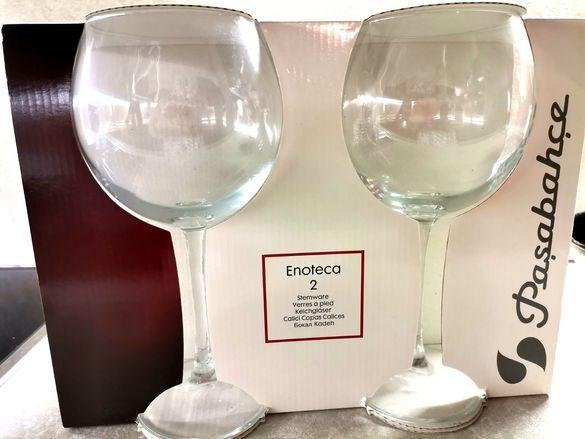Големи стъклени чаши нови