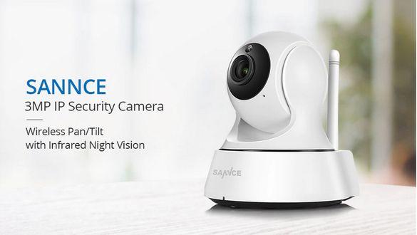 Безжична Wi-Fi IP HD камера 3MP, Бебефон, Въртяща камера за наблюдение