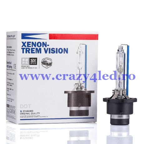 Becuri Xenon-Trem Vision D1s D1r D2s D2r D3s D3r D4s D4r UP +60% 6000k