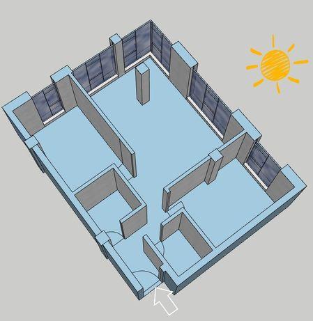 Schimb Apartament 2 camere 74mp