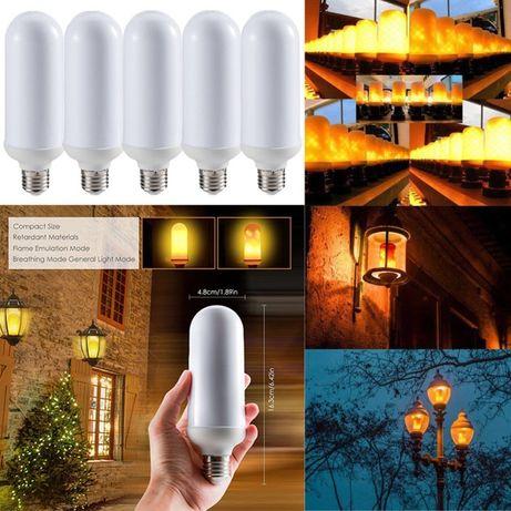 LED лампа имитираща огъня на фенер или факла