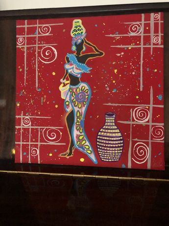 Арт картина , ръчно рисувана акварел