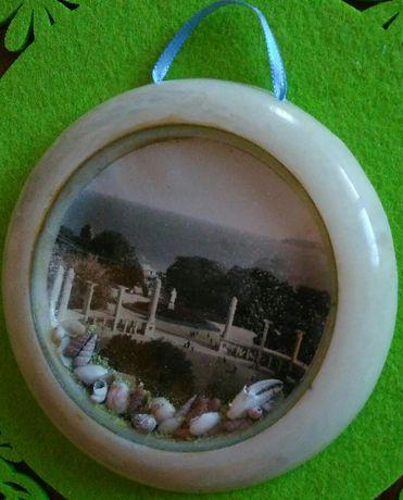 Сувенир-ретро с изглед от град Варна - Морската градина