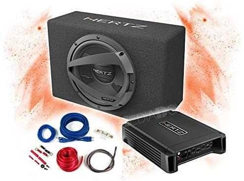 Pachet Subwoofer Hertz DBX 25.3 + Amplificator Hertz HCP 2+Kit cabluri