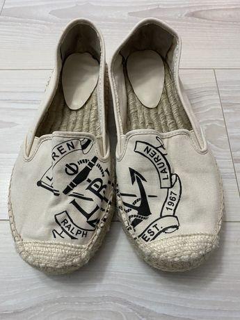 Espadrile balerini textil Polo Ralph Lauren