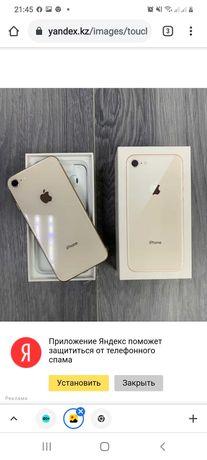 iPhone 8 в золотом цвете в отличном состоянии