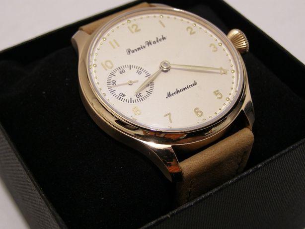 ceas de mana barbatesc mecanic Parnis nou auriu