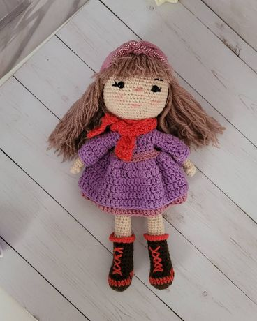 Кукла вязанная ручная работа