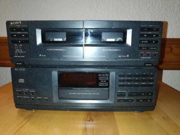 Ресийвър с двукасетъчен дек Sony