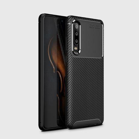 Huawei P30 Lite Pro - Husa Carbon Slim Din Silicon Neagra