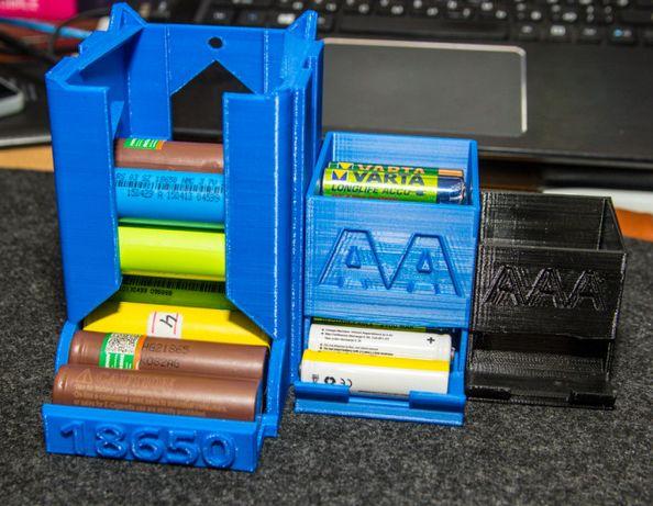 Короб для хранения аккумуляторов 18650