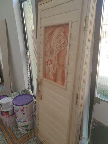 Дверь для парилку. Баня сауна