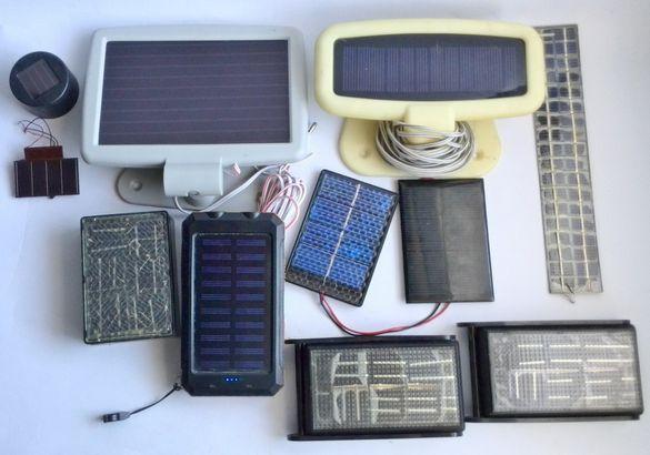 Лот соларни панели и зареждане и батерии