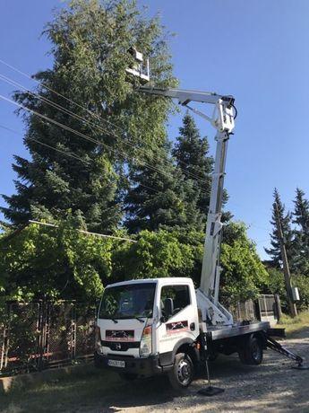 Рязане и кастрене на опасни дървета с автовишка
