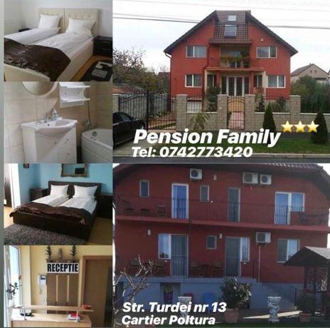 FAMILY PENSION va ofera spre inchiriere 6 camere in regim hotelier