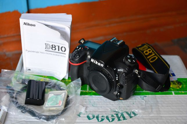 Фотоаппарат Nikon D810 Body пробег 157к + подарок