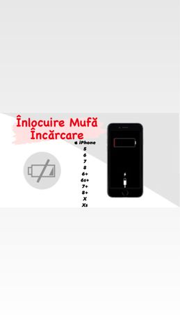  Mufă Încărcare iPhone 5|6|7|8|Plus|X|XS|XR|11|Max|Pro 