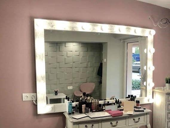 Огледало за грим с осветление 120/80см