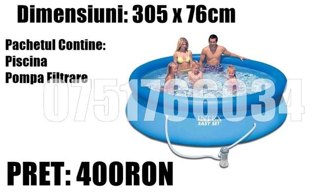 Piscina Gonflabila Familie Relaxare Rotunda 305 x 76 cm + POMPA Filtra