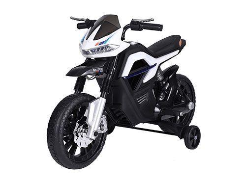 Детски акумулаторен мотор Solomon, бял / черен