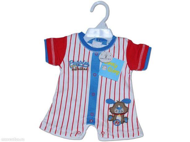 Salopeta marinar pentru bebelusi - bleu