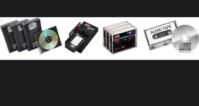 Transfer casete MiniDv VHS, VHS-C, HI8, Audio