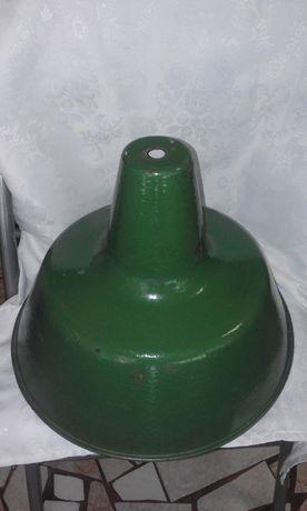 Стара Емайлирана Индустриална Лампа