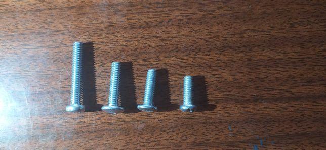 Болты размером (мм) 4х15-35 5х15-35 6х15-35 8х15-35
