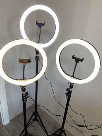 Кольцевая Селфи лампа 33см + штатив 2м