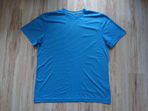 Найк Nike Dri Fit t shirt мъжка синя тениска размер L
