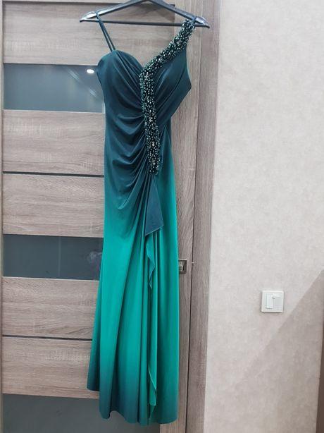 Шикарное вечернее платье (турция) 44 р блузка в подарок