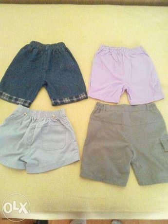 4 perechi de pantaloni scurti copii