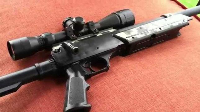 Pusca CU LUNETA Aer Comprimat airsoft Pistol Gaz Co2 cu Manuala Spring