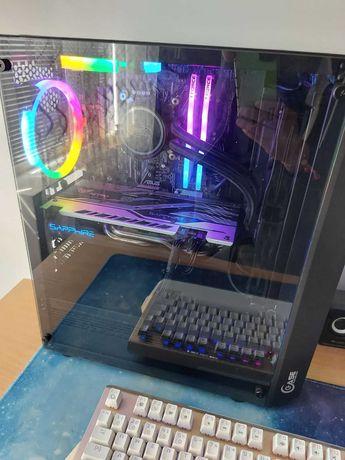 Геймърски Компютър i7 6700k, 16gb Ram, RX580, Водно охлаждане, 750W
