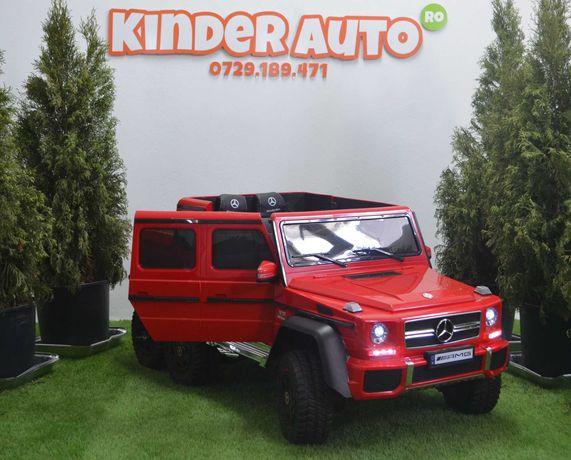 Masinuta electrica pentru copii Mercedes G63 6x6 Premium 180W #RED