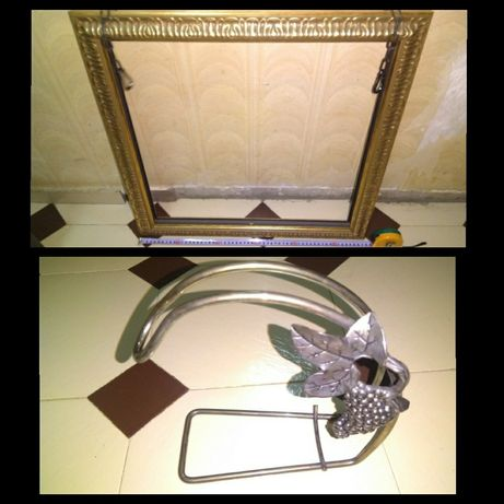 Двустранна рамка за закачане на таван / Метална стойка за вино