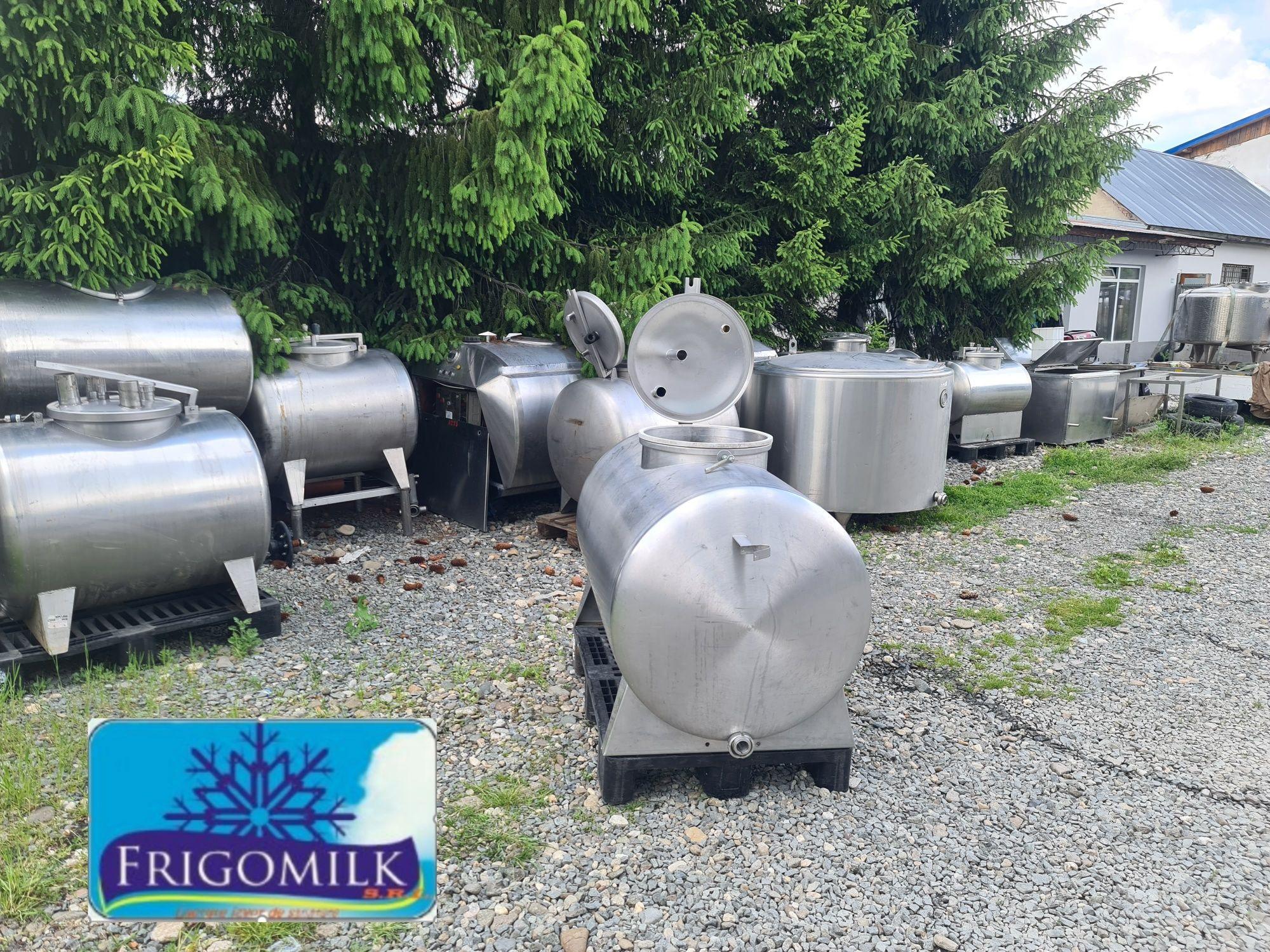 Cisterna transport lapte 700 litri , bazin inox lichide , rezervor