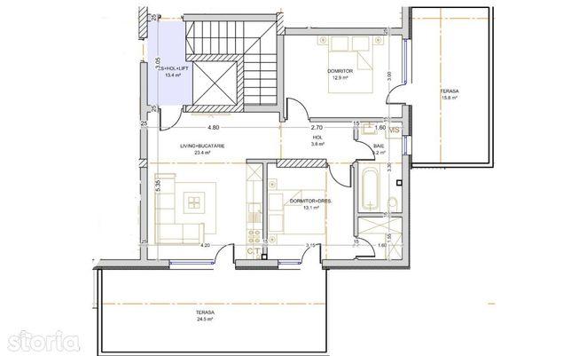 Apartament 3 camere cu terasa, Metrou Berceni (8 min)