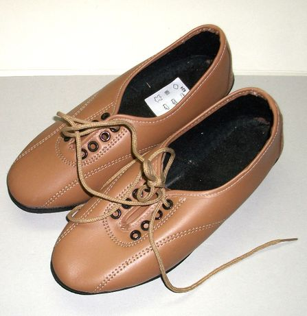 Vand pantofi de dama bej, din piele, marimea 36, noi