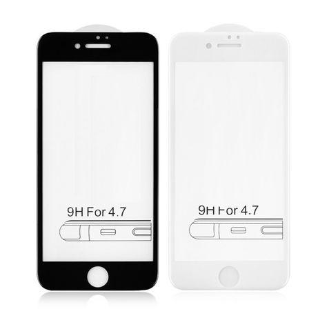 Iphone 7 7+ 8 8+ Folie Sticla Securizata 5D 6D Full Cover Alba Neagra