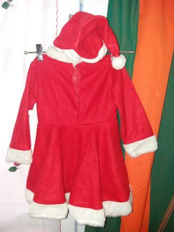 rochită de mos crăciun cu căciulă
