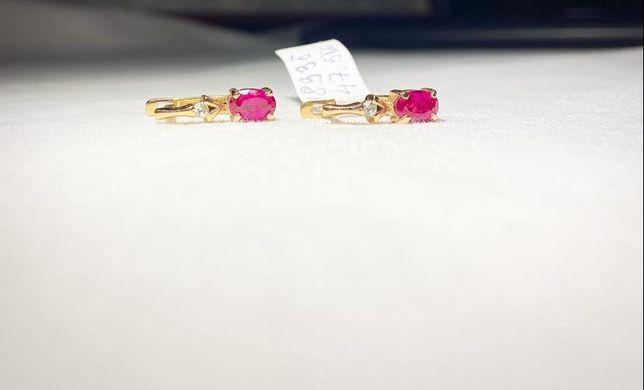 Золотые серьги с камнями #АС8335