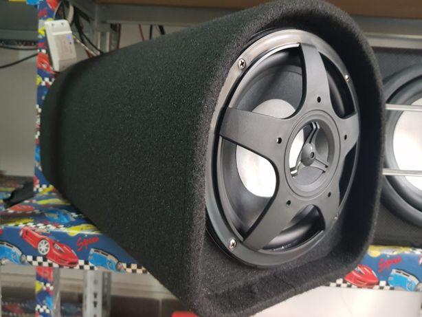 Tub bass subwoofer activ nou pentru casa sau masina CILINDRIC