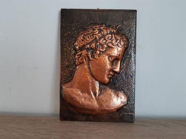 Tablou Artdeco pe metal cupru aplicat pe lemn tema bust de Roman