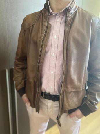 Лимитированная кожаная куртка Massimo Dutti