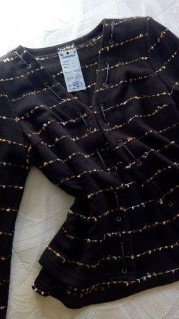 46н - Дамски комплект - жилетка с блуза- Чисто-нов
